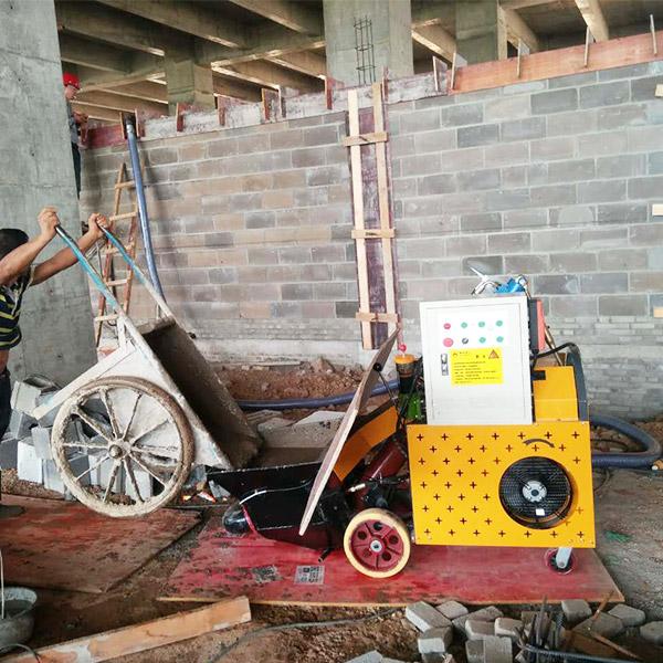 二次构造柱泵经营之道-设备很给力