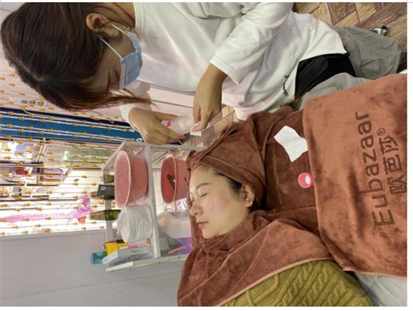 欧芭莎化妆品为顾客创造了一个高品质的消费环境