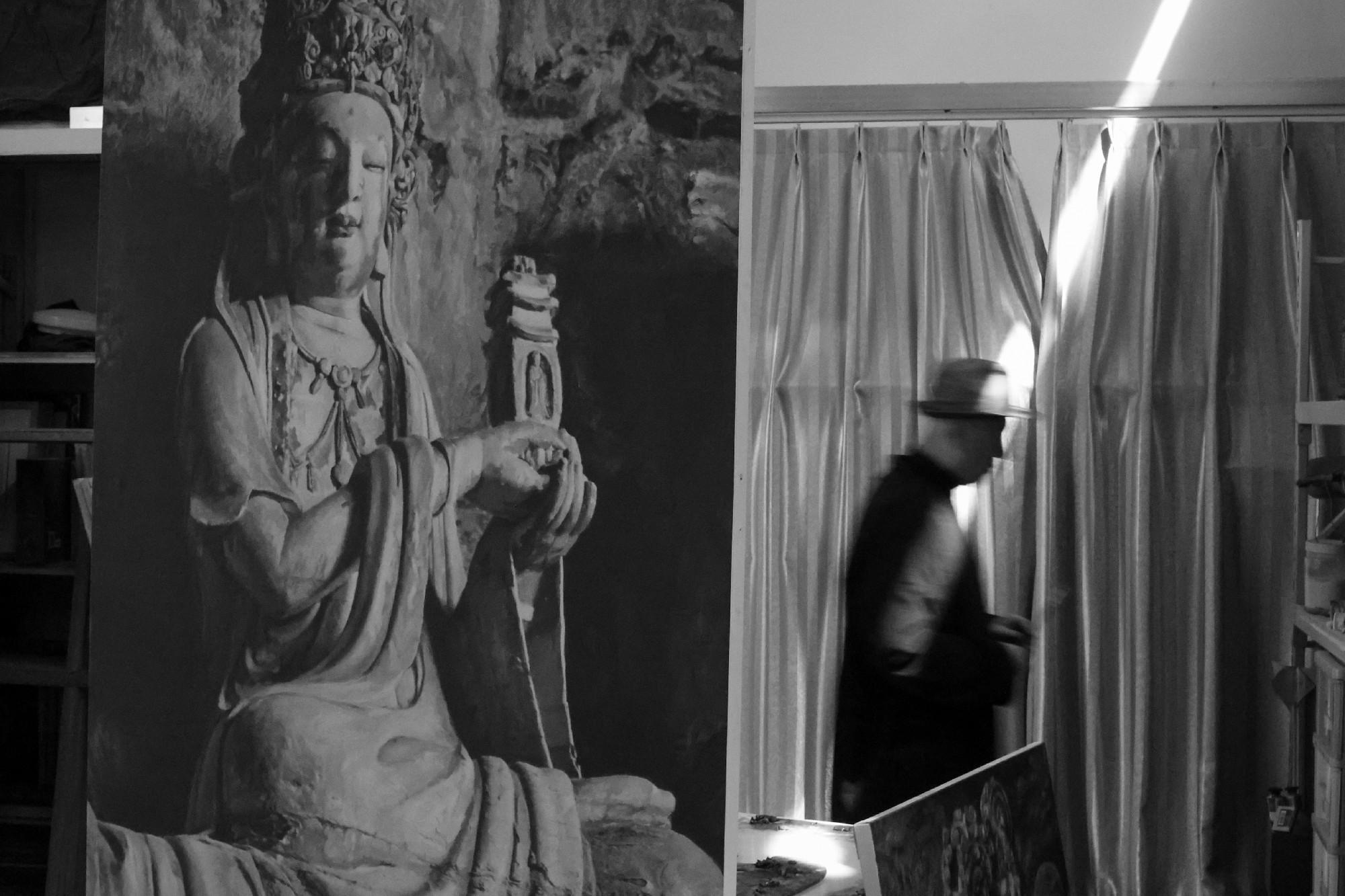 流动的石窟 艺术家霍季民为民族文化自信做出巨大贡献