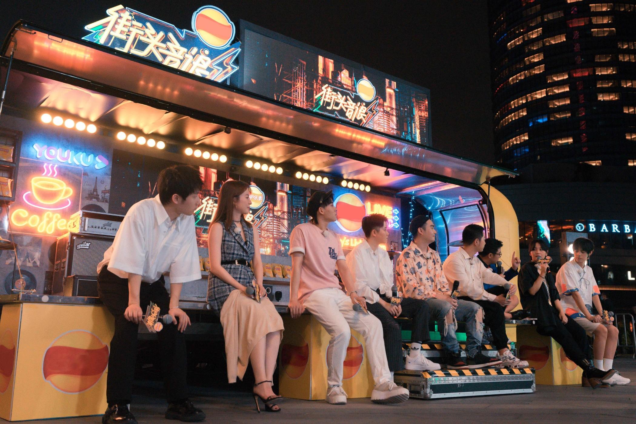 梦响群星现身《街头音浪》发布会演绎原创为节目助力