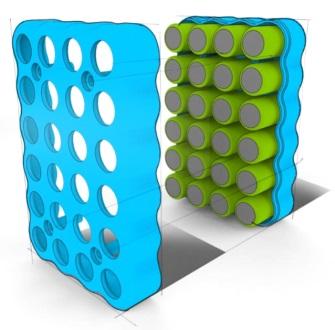圆柱形电池的塑料部件设计